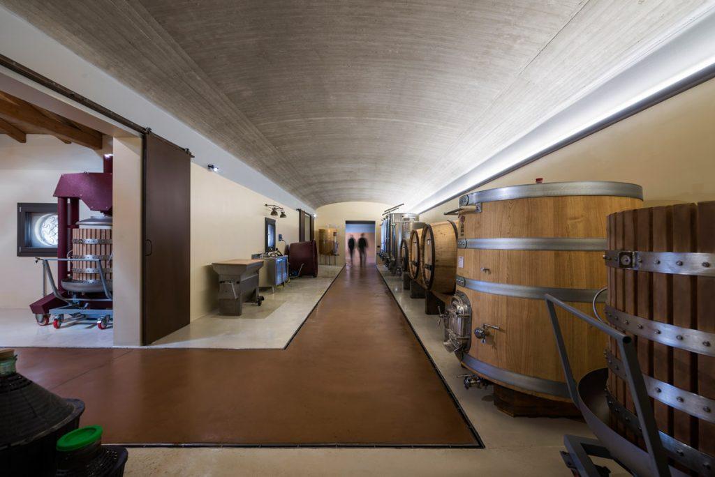 new cellar at Cantina Ribelà